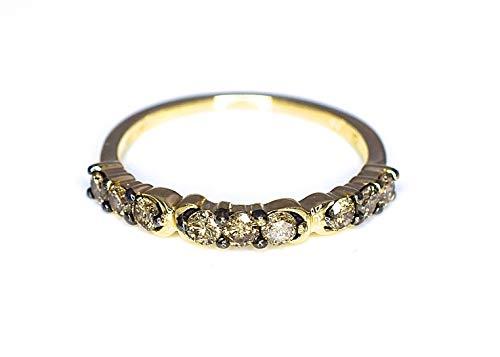LeVian Ring 1/2 ct Chocolate Diamonds Band 14K Yellow Gold Size - Chocolate 0.5 Ct