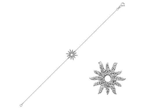 Sun Diamond Bracelets (Diamond Stone Sun Bracelet in 18K Gold)
