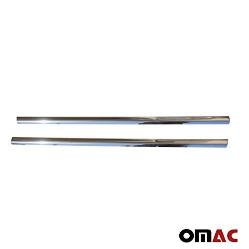 OMAC 4733141 Barres Fen/être 2 /Pi/èces En Acier Inoxydable Chrom/é