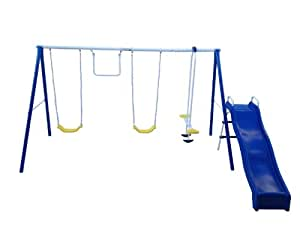 """Flexible Flyer """"Swing and Play"""" Swing Set with Play Set"""
