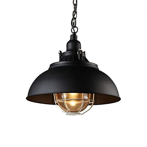 FEE-ZC Mini Lamp Shades for Chandeliers Black Ceiling Lights for Bedroom Led Industrial Pendant Lamp Iron Lampshade Dining Room Living Room E27 110V-220V, Black