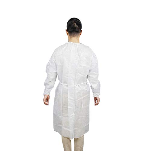 LOadSEcr'Home Improvement Tools Disposable Thicken Medical Laboratory Surgical Isolation Cover Gown Clothes Handyman Tool - White -