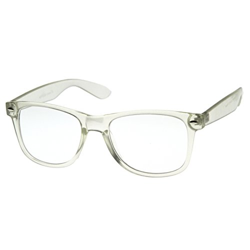 MLC Eyewear Ice Clear Edition Large Horn Rimmed Glasses - Clear - Safety Glasses Wayfarer