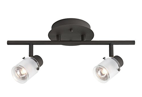 Radionic Hi Tech K_TKL_8811 Becca 2 Light Bronze Track Light, 15''