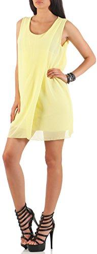 Vestido Vestido Amarillo than fashion more elegante Ùnica Verano Mujer malito de Talla Noche mailto de 6878 HCfIHxq