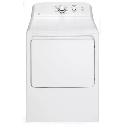 GE GTD33GASKWW 7.2 Cu. Ft. White Gas Dryer