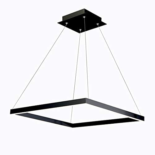 VONN VMC31620BL Atria 20 , Adjustable Suspension Fixture, Modern Square Chandelier Lighting in Black LED Pendant, 19.75 L x 19.75 W x 120 8.75 H