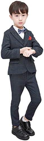 子供スーツ 男の子 フォーマル タキシード キッズ 子供服 スーツ 6点セット 長袖 ジャケット ベスト 上下セット 紳士服 チェック柄 ジュニア 入学式 卒業式 七五三 結婚式 発表会