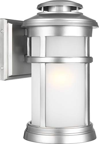 Feiss OL14301PBS Newport StoneStrong Marine Grade Outdoor Patio Lighting Wall Lantern, Painted Brushed Steel, 1-Light (8