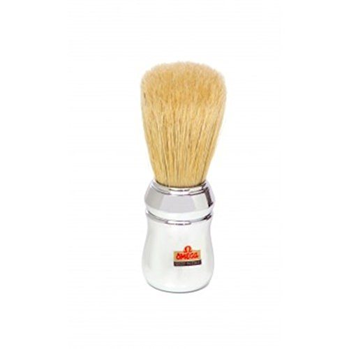 Perma Brands Omega Chrome Boar Bristle Shaving Brush