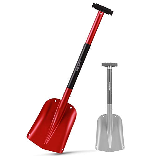 REDCAMP Aluminum Lightweight Snow Shovel for Car Emergency