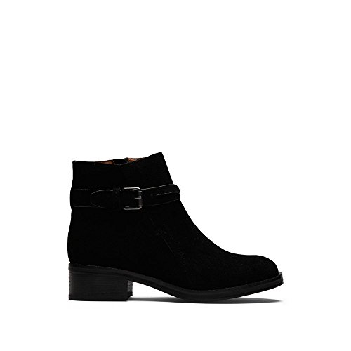 Percy Bootie With Buckle Detail Ankle Boot, Black, 7 M US (Buckle Detail Ankle Boots)