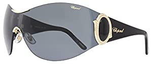 Chopard 901 Black Gold Grey Sunglasses