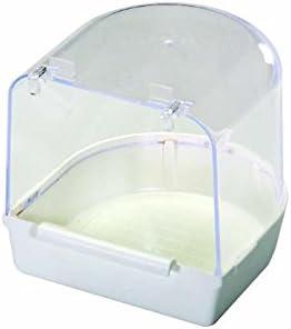 Pet Ting pájaro baño Blanco–servilletas de, Amarillo, Budgie Ext 13x 13x13