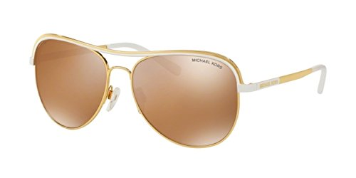 Michael Kors Women's 0MK1012 Gold/White Sunglasses