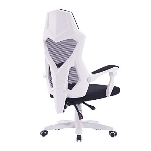 HOMEFUN Ergonomic Office Chair, Adjustable Mesh Recliner Chair, Desk Task Chair with Armrests White