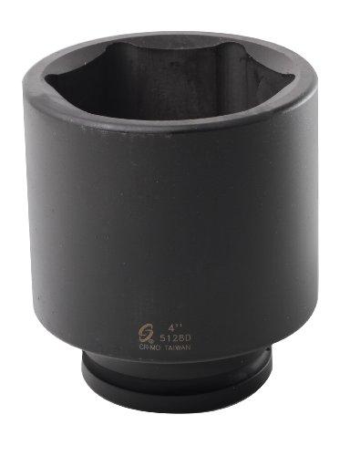 Sunex 5128D 1-Inch Drive 4-Inch Deep Impact Socket (1 Socket 4 Set Deep)