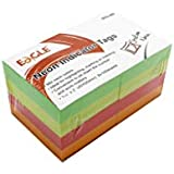 Bloco Adesivo Stick On-It 40 x 50mm 100 Folhas, Eagle, 653-8N 51.6700, Multicor, pacote de 8