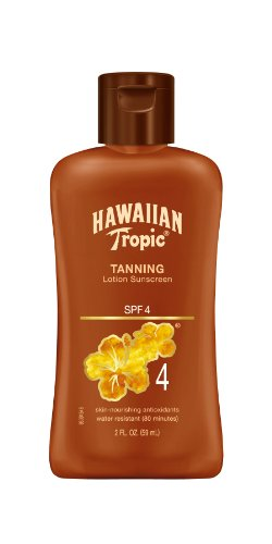 Hawaiian Tropic Sunscreen Dark Tanning Lotion with Antioxidants, TSA Approved Size, SPF 4, 2 Ounce (Pack of (Spf 4 Dark Tanning Lotion)