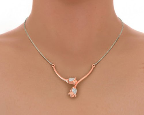 0 Tw Si Whitediamond K Ct Rose Mangalsutra Ij Or 36 Triangles 18 bfyv7gmIY6
