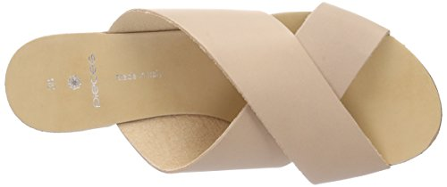 PIECES Psjama Leather Sandal - Mules Mujer Beige