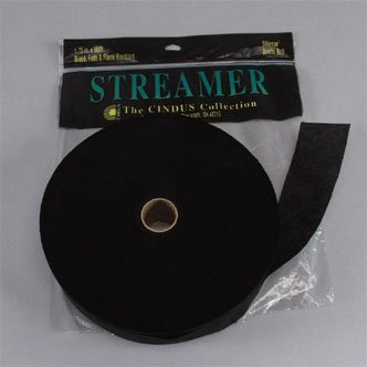Crepe Paper Streamers, 500 Feet, Black