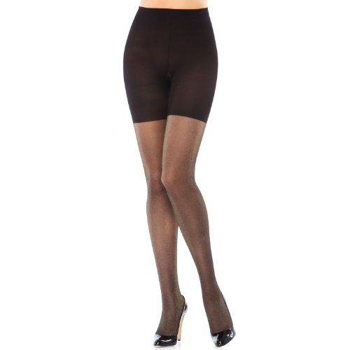 Gold Tights Lurex (SPANX Patterned Body Shaping Lurex Tights (398) E/Black/Gold)