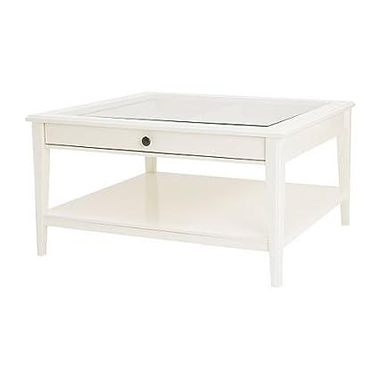 Amazon Com Ikea Liatorp White Coffee Table With Glass Top 500 870