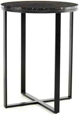 100% Authentiek One Couture bijzettafel, marmer, zwart, 44 x 44 x 58  57pht7m