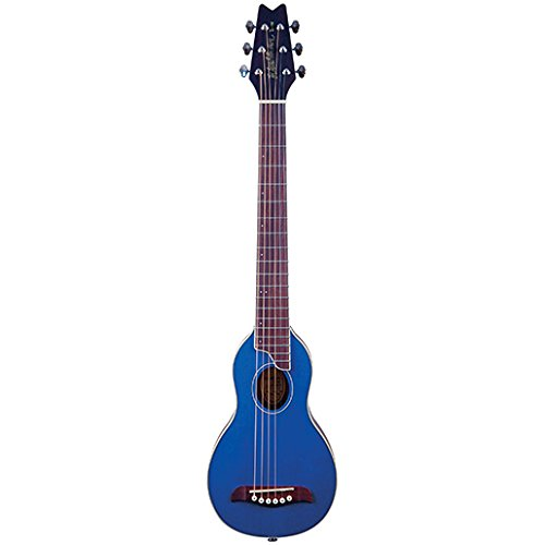 Washburn RO10TB Rover Steel String Travel Acoustic Guitar - Transparent Blue