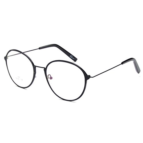 04eb515c6df Simvey Retro Round Oversized Prescription Metal Eyeglasses Frame Clear Lens  Glasses - Buy Online in UAE.