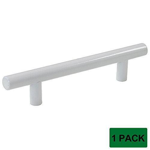 Probrico Modern Cabinet Hardware Handle Pull Kitchen Cabinet T Bar Knobs and Pull Handles White – 3-3/4″ Hole Centers – 1 Pack