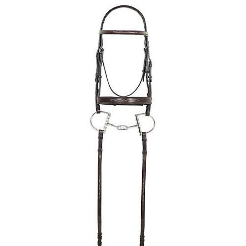 Ovation Fancy Raised Wide Noseband Bridle Horse ()