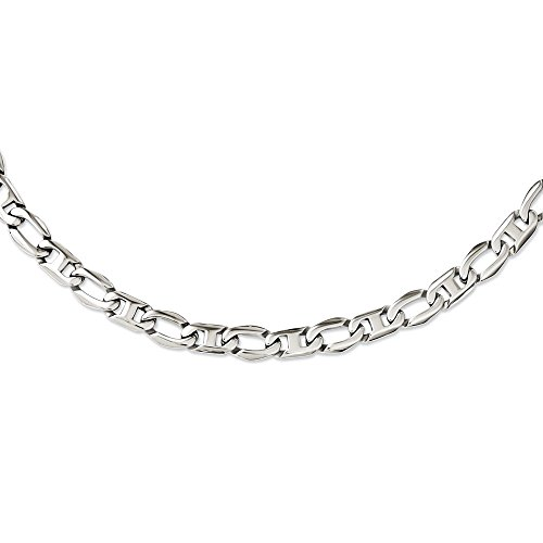 24' Open Link Necklace (Stainless Steel Polished Open Links Necklace 24'' inches length)