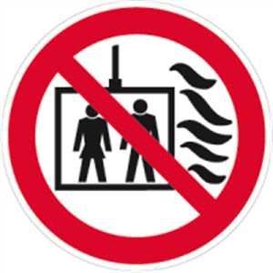 Adhesivo ascensor EN caso de incendio usar de acuerdo con la ...