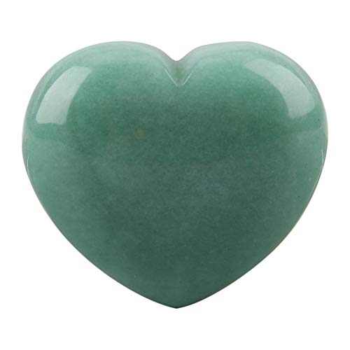 Garosa Heart Shape Stone, Natural Material Irregularly Shaped Stone, Healing Crystal Love Romantic Exquisite, Collection for Families and Friends (Aventurine)