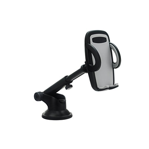 [Car Mount Windshield/Dashboard Phone Holder with Quick Release Button and Stretchable Arm for iPhone 7 Plus/7/6s Plus/6s/SE/5, Samsung Galaxy Note,Nexus and Most 4-6 Inches Smartphones] (Quick Release Windshield)