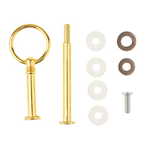 LOVIVER 1Set Metal 2 Tier Party Wedding Cupcake Fruit Heavy Plate Stand Centre Handle Fittings Round Drill Round Hardware Rod - Gold by LOVIVER (Image #2)