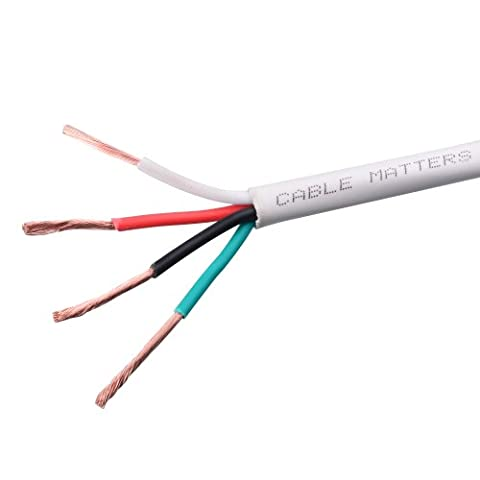 Cable Matters 14 AWG In-Wall Rated (CL2) Oxygen-Free Bare Copper Bi-Wire Speaker Cable 250 Feet