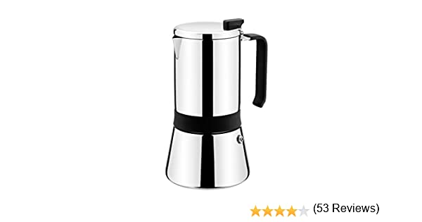 Monix Aroma Cafetera italiana, 18/10, Inoxidable, Gris (Acero), 12 cm, 10 tazas: Amazon.es: Hogar