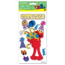 jbr1116 Sesame Street 3D Stickers-It's A Party Elmo