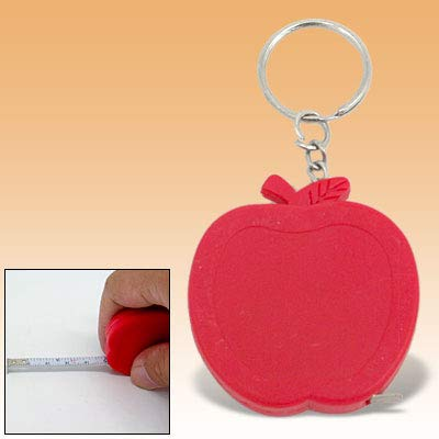 Aexit Keychain Apple Measuring Tools Shape Pocket Retractable Tape Measure Ruler Model:43as432qo47