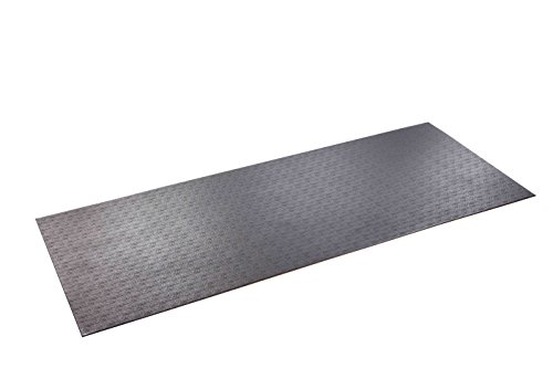 SuperMats High Density Commercial Grade Solid Equipment Mat 15GS Made in U.S.A. for Large Treadmills Ellipticals Rowing Machines Recumbent Bikes and Exercise Equipment  (3-Feet x 7.5-Feet) (36 in x 90 in) (91.44 cm x 228.6 cm) (Stepper Mat)