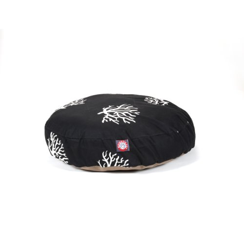 Cheap Black Coral Small Round Indoor Outdoor Pet Dog Bed With Removable Washable Cover By Majestic Pet Products