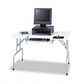 Safco® Folding Computer Table TABLE,CPU,FOLDING,GY 2236B001 (Pack of 2)