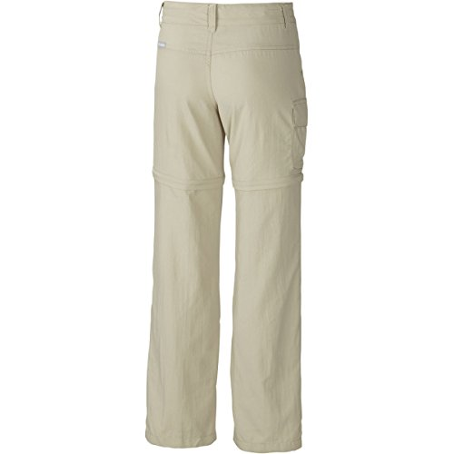 Columbia Girl's Silver Ridge III Convertible Pant (Youth), Fossil, Small