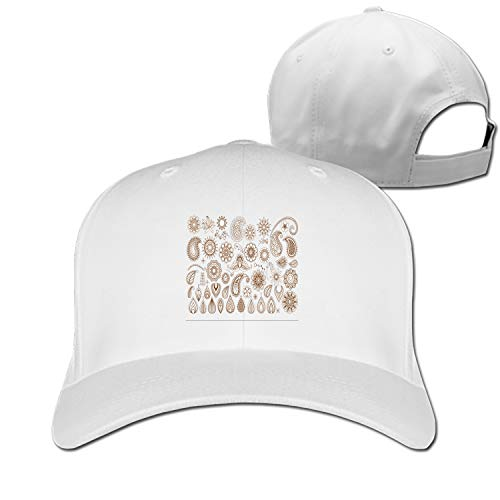 Tattoo-Doodle-Elements Adjustable Sandwich Baseball Cap Cotton Snapback Peaked hat ()