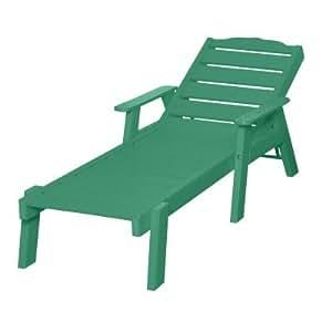 Beach Front Sand Dollar Chaise with Arms - Aruba Blue