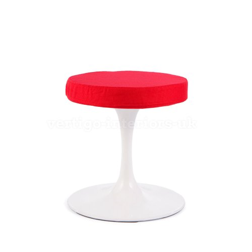 Price comparison product image *Set of 6* High Quality Saarinen Style Tulip Dining Stool - Red Seat Pad