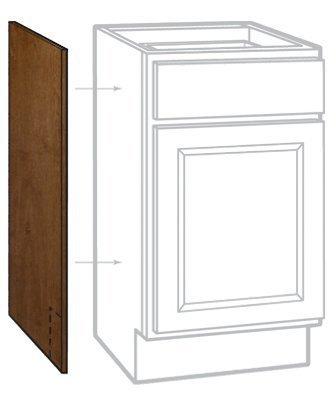 LES CBKAS2435-COG Cafe Finish Base Cabinet End Panel (2 Pack), 24